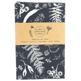 One Thousand Lines Gathered Tea Towel - Dark Grey