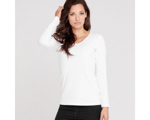 Dorsu Fitted Long Sleeve Shirt - White