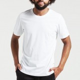 Dorsu Mens Cotton Crew - White