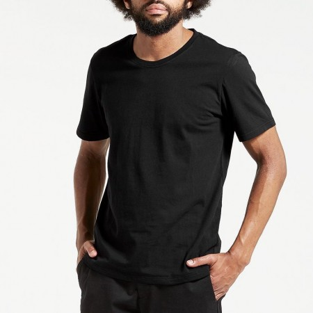 Dorsu Mens Cotton Crew - Black