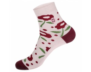 Conscious Step Socks That Promote Breast Cancer Prevention II (Flower) - Womens