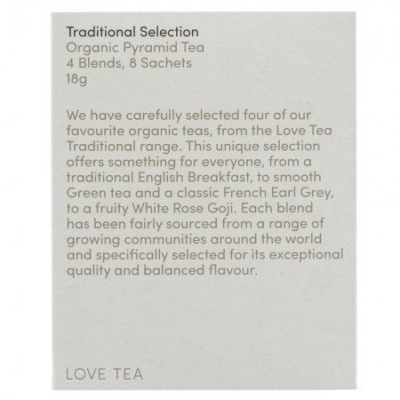 Love Tea Organic Tea Bags Sampler 18g (8pk) - Traditional Selection