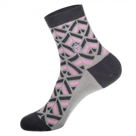 Conscious Step Socks That Promote Breast Cancer Prevention (Grey) - Women's
