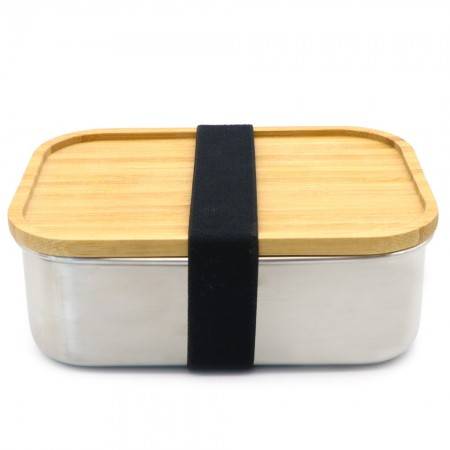 Biome Stainless Steel Container with Bamboo Lid 800ml