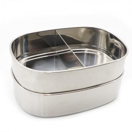 Good To Go Stainless Steel Two Level Lunchbox with Band 1L