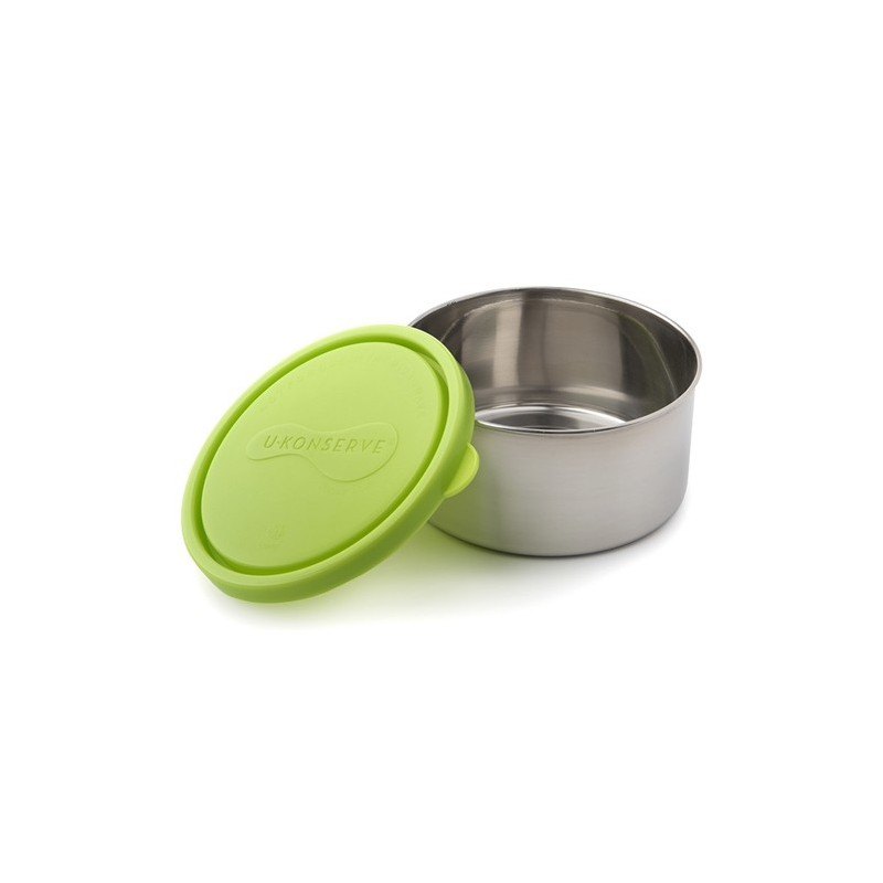 U Konserve Large Round Stainless Steel Container 16oz 470ml - Lime