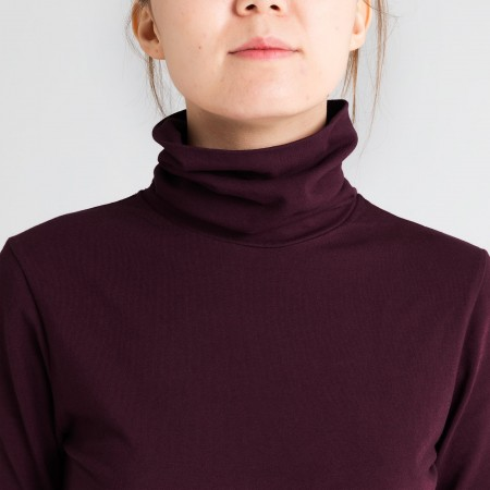 Dorsu Long Sleeve Turtleneck - Wine