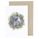 Ingrid Bartkowiak Art Greeting Card - Rosella Wreath