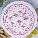 Unwaxed Large Food Cover - Flamingo/Pink