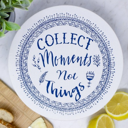 Unwaxed Medium Food Cover - Collect Moments/Navy