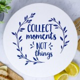 Unwaxed Large Food Cover - Collect Moments/Navy