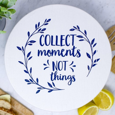 Waxed Large Food Cover - Collect Moments/Navy