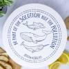 Edgy Moose Waxed Large Food Cover - Whale/Navy