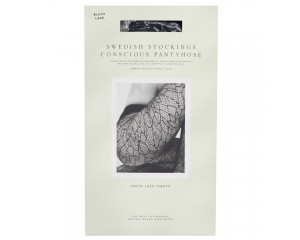 Swedish Stockings Edith Lace Tights Black