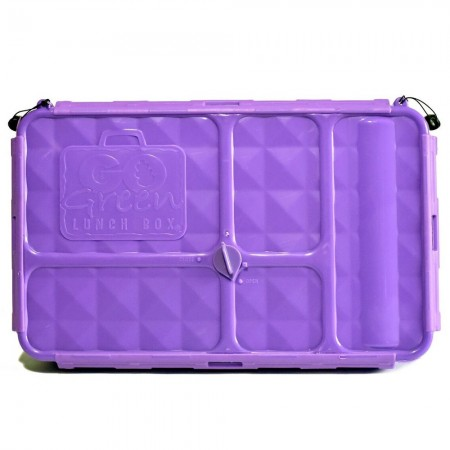 Go Green Original 5 Compartment Lunch Box - Purple