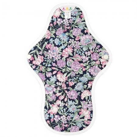 Hannahpad Medium Cloth Pad - Carnation Black