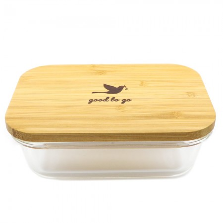 Good to Go Glass & Bamboo Container Small 370ml
