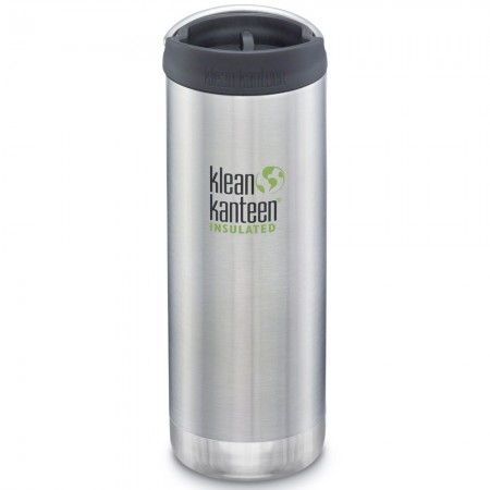 Klean Kanteen TKWide Cafe Cap 16oz 473ml - Brushed Stainless