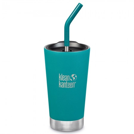 Klean Kanteen Insulated Tumbler with Straw 16oz 473ml - Emerald Bay