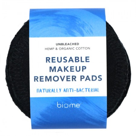 Biome Reusable Makeup Remover Pads 10pk - Black
