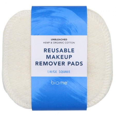 Biome Reusable Makeup Remover Pads 5pk - Square