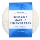 Biome Reusable Makeup Remover Pads 10pk - Natural