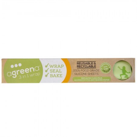 Agreena Reusable Silicone Food Wrap Bakers Sheet 2pk