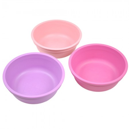 Re-Play recycled bowls (3) - pinks (light pink, dark pink & purple)