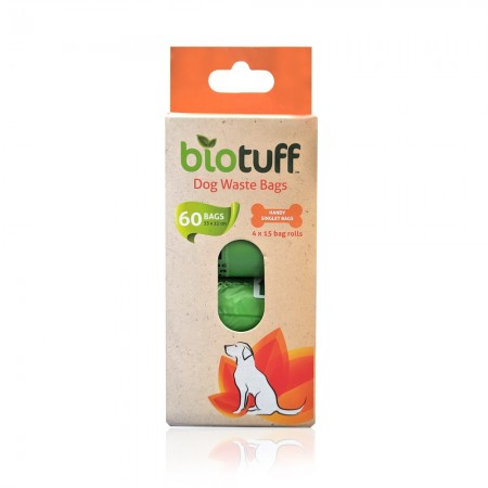 Biotuff Compostable Dog Waste Bags - 60 bags