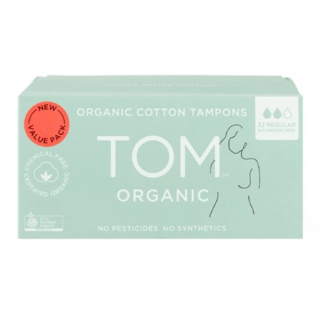 Tom Organic Cotton Tampons (32pk) - Regular