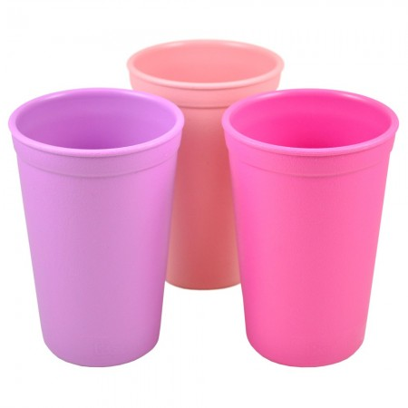 Re-Play recycled tumblers (3) - pinks (light pink, dark pink & purple)