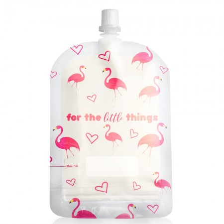 Sinchies Reusable Pouches 150ml (10 pack) - Flamingoes