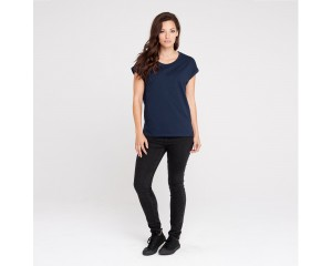 Dorsu Rolled Sleeve Crew - Navy