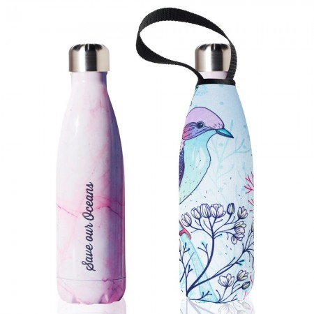 BBBYO Stainless Steel Water Bottle with Cover 500ml - Pastel