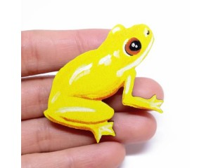 Pixie Nut Frog Brooch
