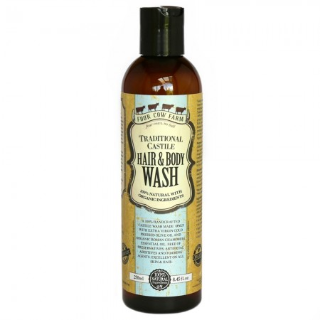 Four Cow Farm Traditional Castile Hair & Body Wash 250ml