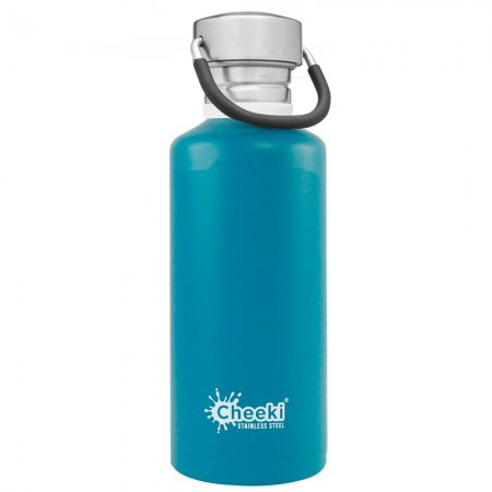 Cheeki 500ml Stainless Steel Water Bottle - Topaz