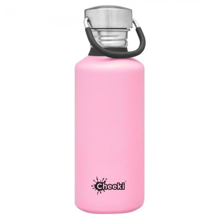 Cheeki 500ml Stainless Steel Water Bottle - Pink