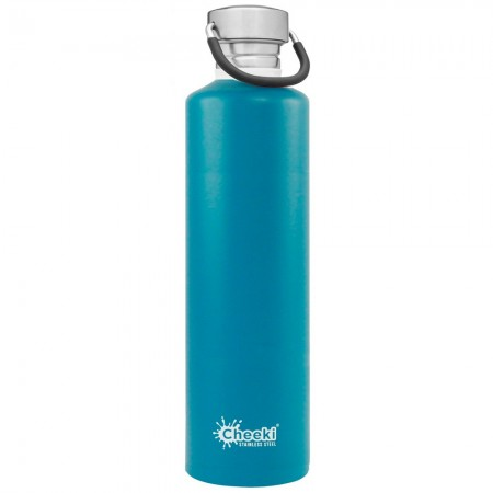 Cheeki 1L Stainless Steel Water Bottle - Topaz