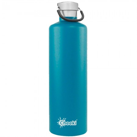Cheeki 1L Stainless Steel Insulated Bottle - Topaz