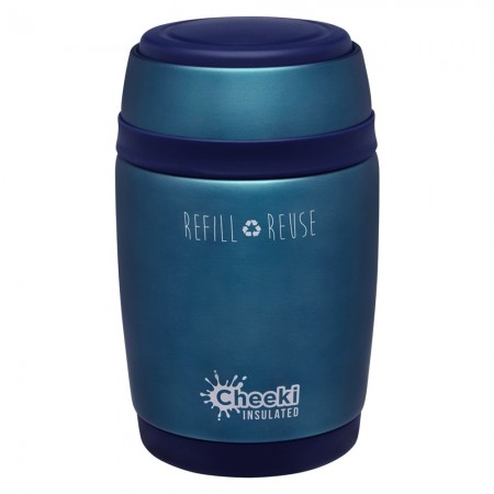 Cheeki Insulated Food Jar 480ml - Blue