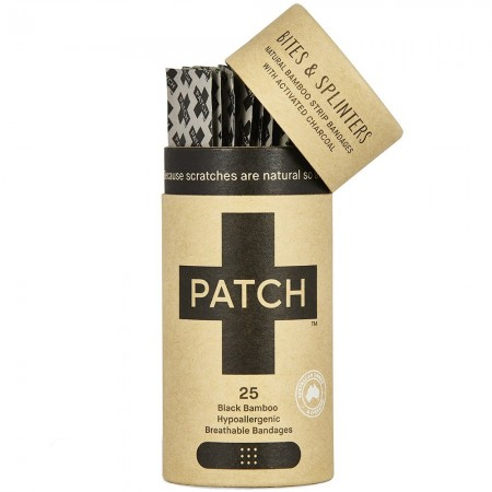 Patch Organic Adhesive Strips 25pk - Activated Charcoal