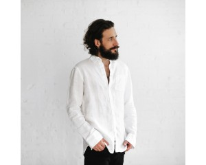 Seaside Tones Mens Shirt White