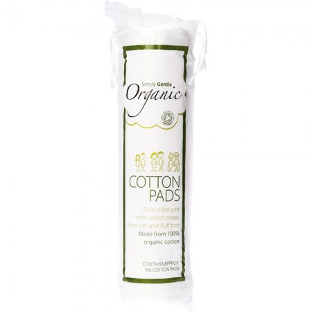 Organic cotton cosmetic pads (100)