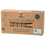 Bamboo clothes pegs (pack of 20)