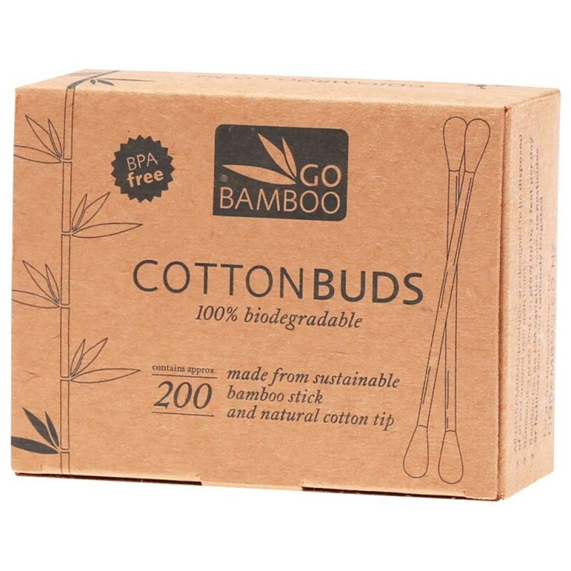 Bamboo cotton buds (pack of 200)