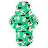 Hannahpad Medium Cloth Pad - Hannah Green with Grip