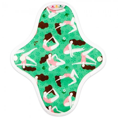 Hannahpad Small Cloth Pad 2pk - Hannah Green with Grip