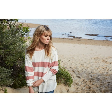 Torju Rugged Coast Knit Jumper Rose Stripe