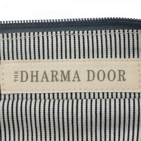 Dharma Door Jute Canvas Pouch Ash